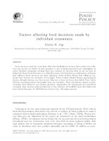Factors affecting food decisions made by individual consumers