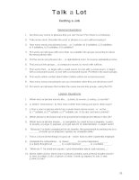 getting a job discussion words question sheet
