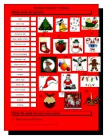 765 vocabulary matching worksheet  xmas
