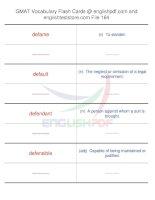 GMAT vocabulary flash cards164