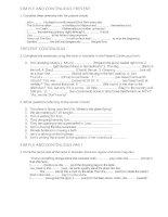 English grammar activities for 1 bachillerato