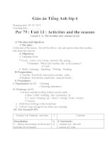 Giáo án Tiếng Anh 6 unit 13: Activities and the seasons