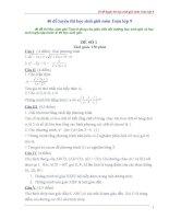40 đề luyện thi học sinh giỏi toán 9