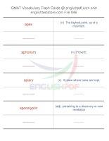 GMAT vocabulary flash cards46