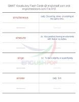 GMAT vocabulary flash cards610