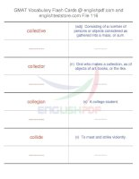 GMAT vocabulary flash cards116
