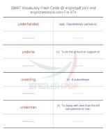 GMAT vocabulary flash cards674