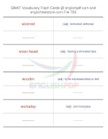 GMAT vocabulary flash cards703