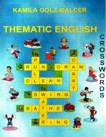 Krossvordy thematic english crosswords