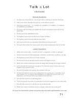 talk a lot 2 question sheet life events
