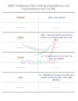GMAT vocabulary flash cards588