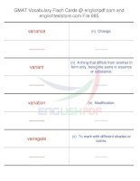 GMAT vocabulary flash cards685