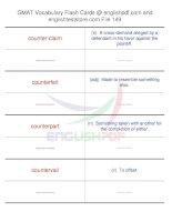 GMAT vocabulary flash cards149