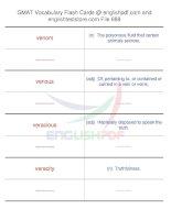 GMAT vocabulary flash cards688