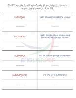 GMAT vocabulary flash cards629