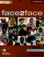 face2face starter students book
