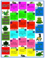 4648 the frog boardgame  adverbs of frequency  directions and tokens included  2 pages  fully editable