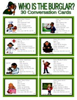 1519 who is the burglar  30 conversation cards  roleplay  class and group speaking