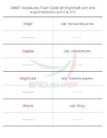 GMAT vocabulary flash cards314