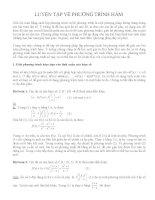 Luyện tập về phương trình hàm ôn thi học sinh giỏi toán
