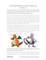Cách bắt được nhiều Pokemon hiếm và mạnh trong Pokemon Go