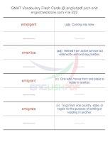GMAT vocabulary flash cards222