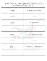 GMAT vocabulary flash cards473