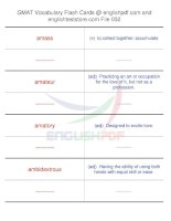 GMAT vocabulary flash cards32
