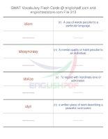 GMAT vocabulary flash cards313