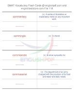 GMAT vocabulary flash cards118