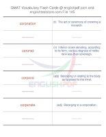 GMAT vocabulary flash cards145