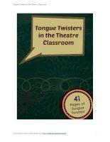 Tongue twistersinthe theatre classroom