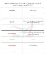 GMAT vocabulary flash cards47
