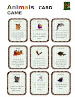 2952 animals card game