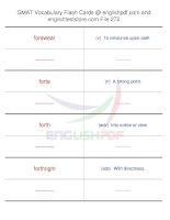GMAT vocabulary flash cards272