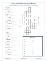 vowel sounds crossword