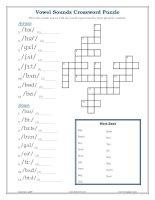 vowel sounds crossword