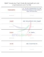 GMAT vocabulary flash cards656