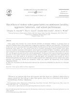 The effects of violent video game habits on adolescent hostility, aggressive behaviors, and school performance