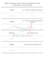 GMAT vocabulary flash cards608