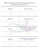 GMAT vocabulary flash cards237