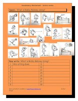 727 vocabulary matching worksheet  action verbs