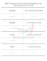 GMAT vocabulary flash cards566