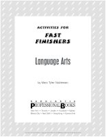 Lang arts fast finishers