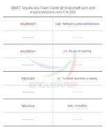 GMAT vocabulary flash cards253