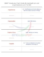 GMAT vocabulary flash cards320