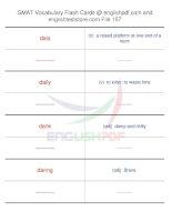 GMAT vocabulary flash cards157