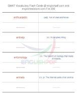 GMAT vocabulary flash cards230