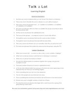 learning english discussion words question sheet