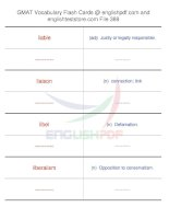 GMAT vocabulary flash cards388